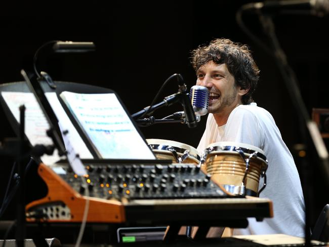 Gotye rehearses with the Ondioline Orchestra in Launceston. Pic: Chris Kidd