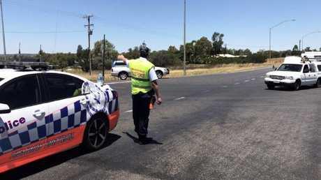 The scene of the fatal Newell Highway crash. Five people have died in three separate crashes involving trucks on NSW roads since Monday. Picture: Lily Cardis / NBN News