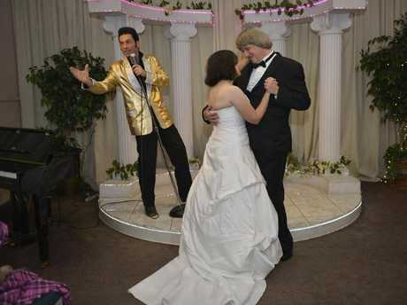 Elvis impersonator Kent Ripley renewed the Turpins' vows three times in Las Vegas and said the kids 'all looked the same'.