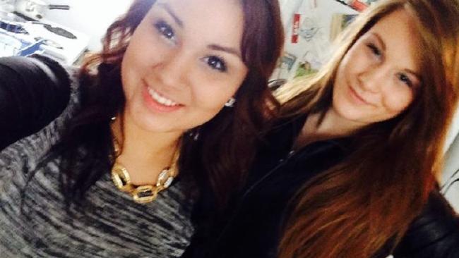 Cheyenne Rose Antoine, left, used her own belt to kill her best friend Brittney Gargol, right. Picture: Facebook