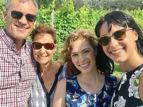 The Falkholt family on Christmas Day last year before the fatal crash that caused the deaths of mother, Vivian, father, Lars, daughter Jessica, and her 21-year-old sister, Annabelle. Photo: Facebook