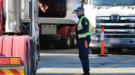 Police and Roads and Maritime Services inspecting trucks in NSW following a spate of fatal crashes.