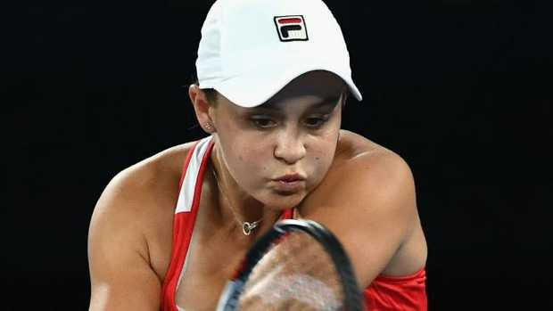 Ashleigh Barty prevailed over three sets on Tuesday night.