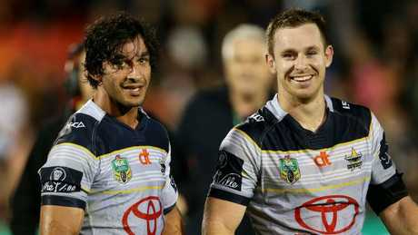 Michael Morgan took over play making duties for the Cowboys during Johnathan Thurston's injury absence. Picture: Gregg Porteous