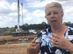 Tank lowered into new sewage pumping station