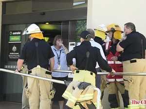 Staff evacuated