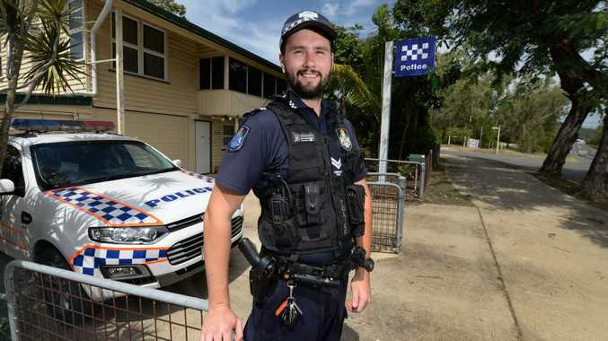 ON DUTY: Senior Constable Ryan Packenham is the new officer stationed at the recently re-opened Lakes Creek Police Station.