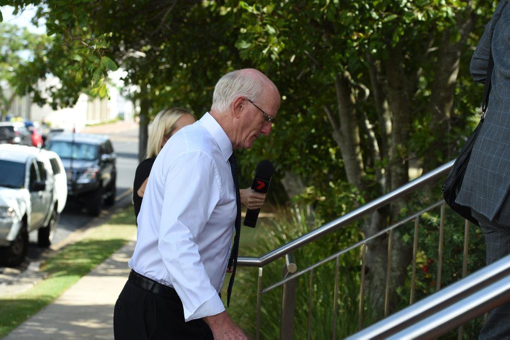 Fraser Coast mayor Chris Loft arrives at Hervey Bay courthouse.