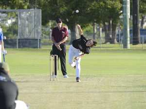 GDSC Easts spinner Hugh Cameron came on to quicken