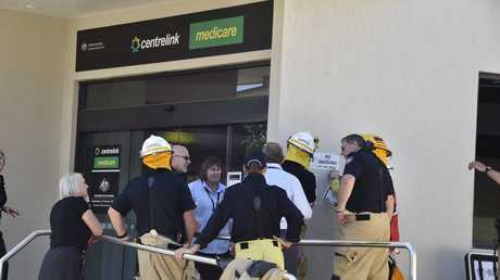 Staff evacuated from Centrelink after reports of gas smell. January 2018