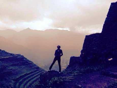 Natalie Lucken during her world travels.
