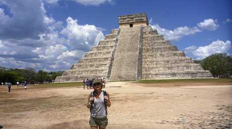 Natalie Lucken exploring Chichen  Itza in Mexico.