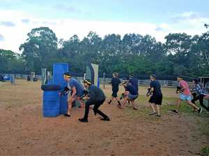 READY, AIM: It's game on at the Noosa North Shore Getaway Bar and Bistro's laser tag arena.