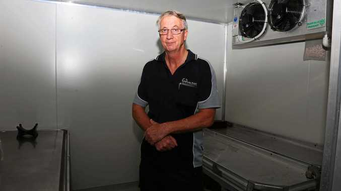 Owner of Whitsunday Funerals and Crematorium Jeff Boyle at his Proserpine morgue.