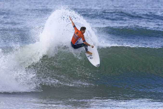 FINE FORM: Snapper Rocks Surfriders Club member  Dextar Muskens has taken out the first Australian Pro Junior final of the year at Bells Beach in Victoria.