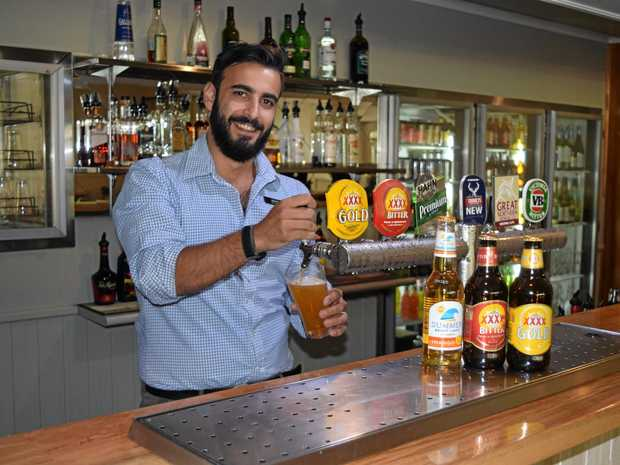 CELEBRATION: Maraboon Tavern General Manager Marco preparing for the Australia Day festivities next weekend.