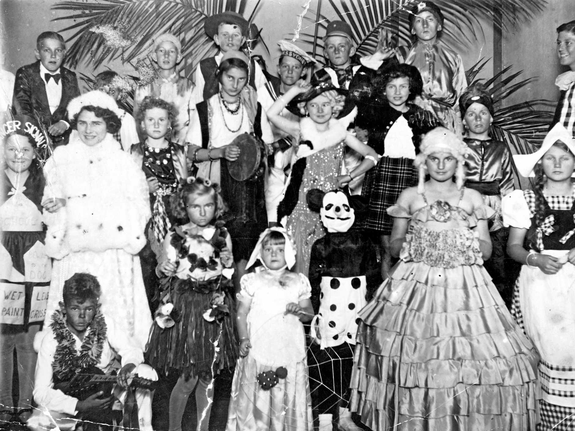 Maroochydore State School's fancy dress ball at the Star Theatre, Maroochydore, on August 26, 1938.