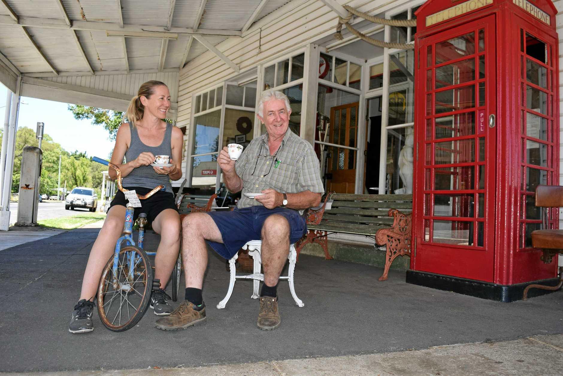 FAMILY AFFAIR: Emily Birnie and Dad Les Birnie run their businesses alongside each other in Marburg.