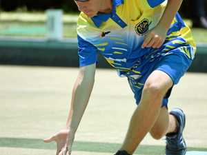 TRIPLES BOWLS: Nick Cahill at the junior state titles.