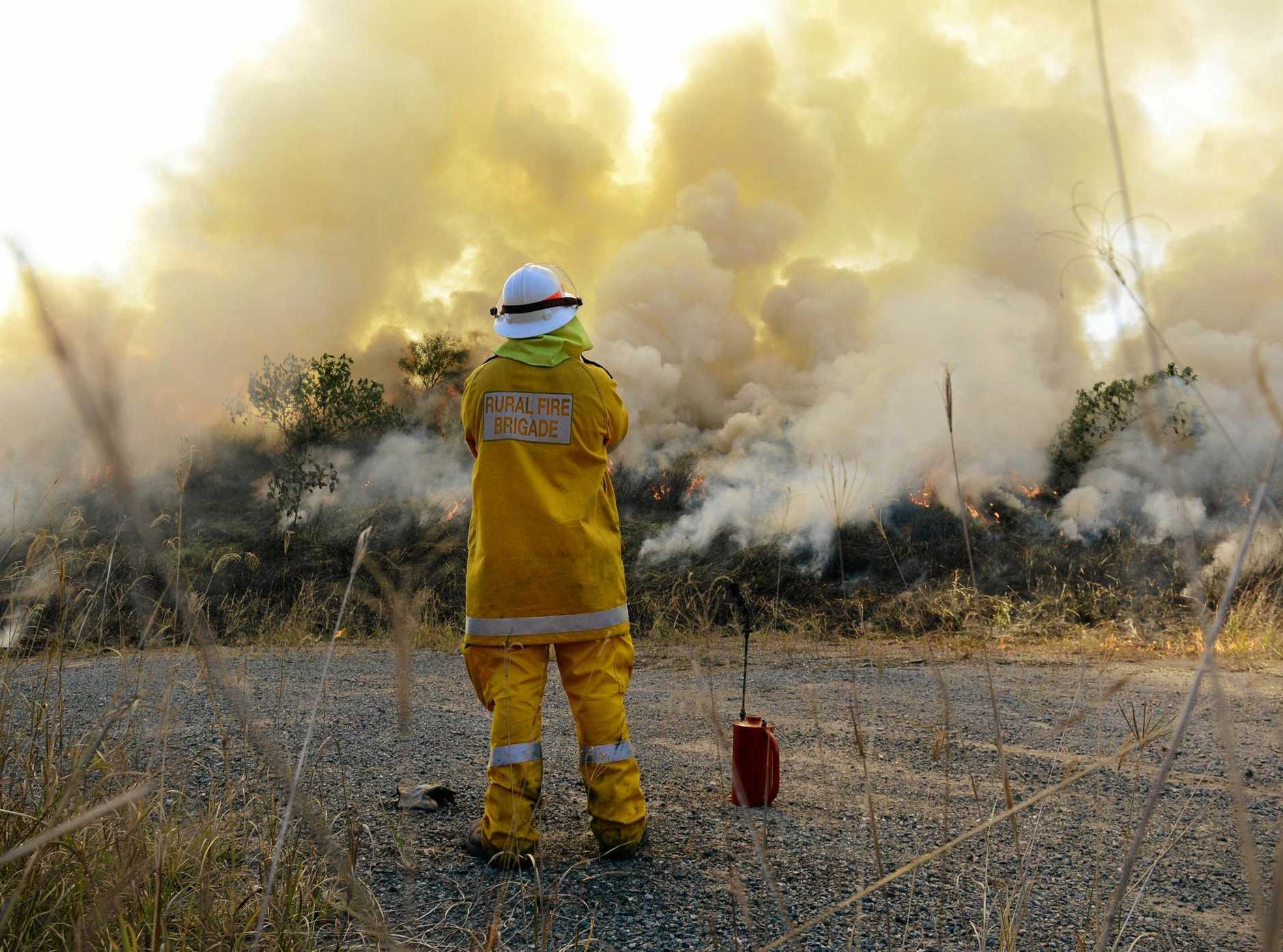 FILE PHOTO: Several fires have broken out along the Bruce Hwy after a trailer caught alight.