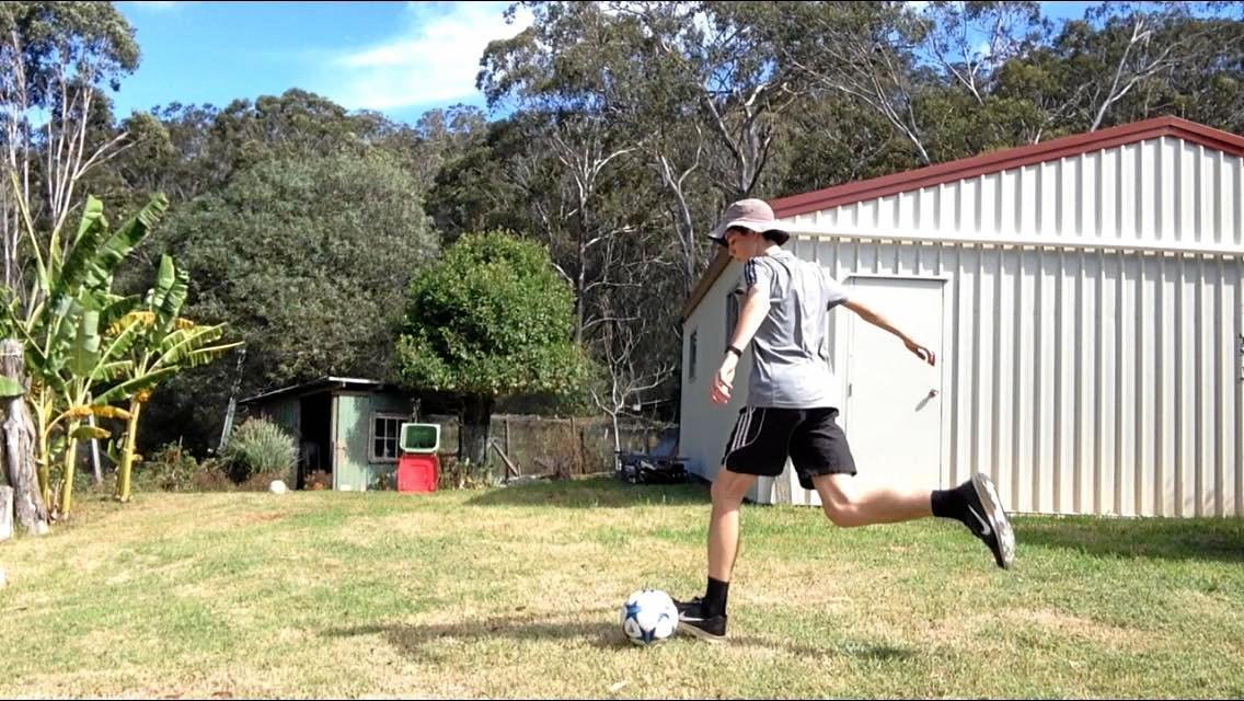 Toowoomba's Jed Hockin lines up a trick shot.