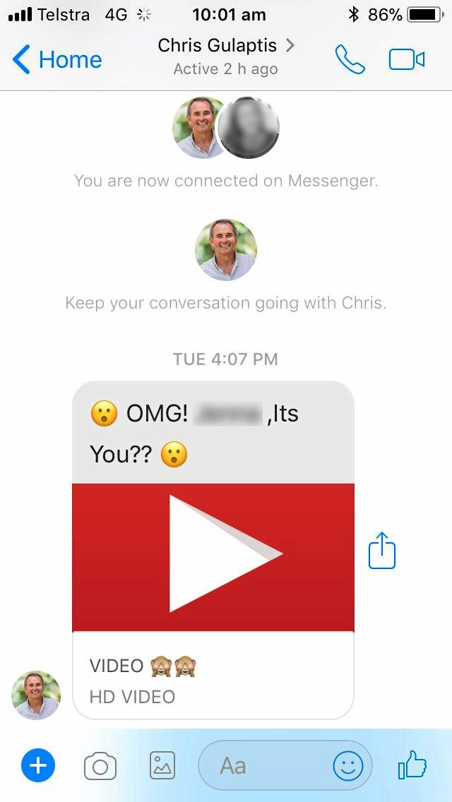 Did you get a strange message from Chris Gulaptis earlier this week? His Facebook was hacked on Tuesday, January 16.