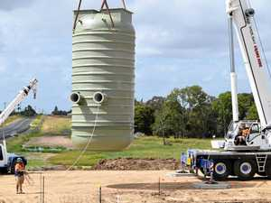 Huge sewage tank saves money, time