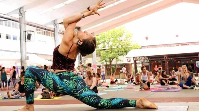 Yoga  by Sally Meredith, an instructor who will be at High Vibes Festival in Maleny.