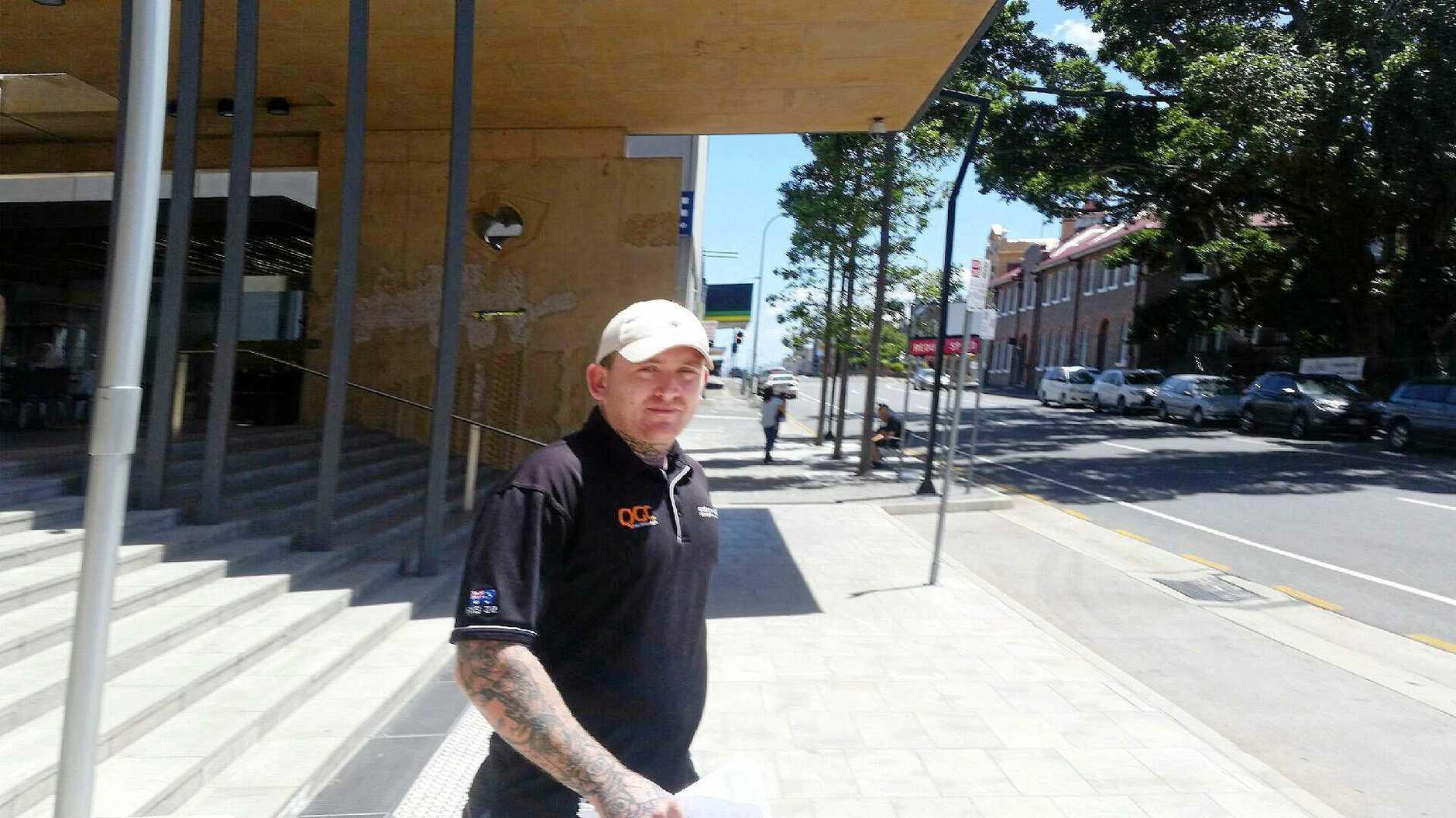 Mitchell Manz outside Ipswich Courthouse.