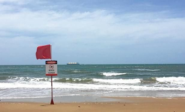 Tannum Sands beach was closed due to a tiger shark sighting on Wednesday.