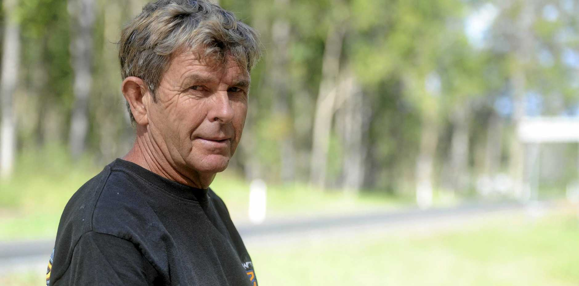 WORRIED: Glenugie resident Dick Hughes is concerned about the plans for Eight Mile Lane to be used as an access point to the new Pacific Highway.