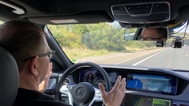 Mercedes-Benz is trialling autonomous vehicles in Australia. Picture: Joshua Dowling.