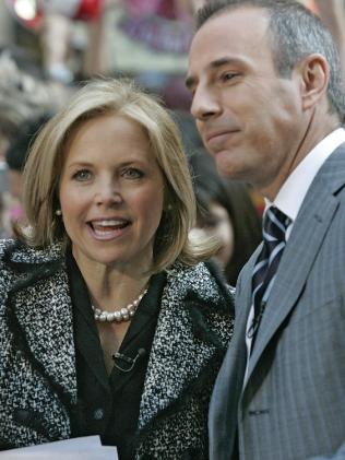 Matt Lauer with another former co-host Katie Couric. Picture; Supplied