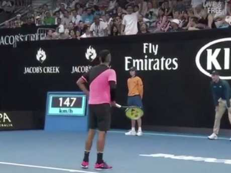 Kyrgios wasn't into it. Picture: Channel 7/Instagram