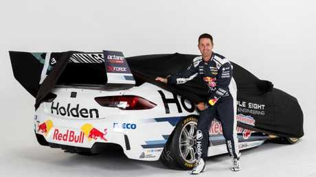 Jamie Whincup gives a sneak peak of his new Holden ZB Red Bull.
