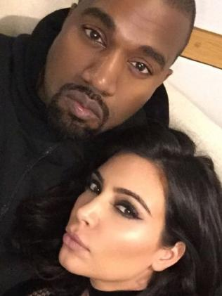 Kim Kardashian and Kanye West. Picture: Instagram