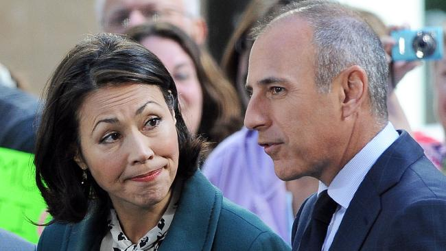 "Ann Curry with Matt Lauer during their time at Today in the US. Curry said she was ""not surprised"" by sexual misconduct claims against the star. Picture: Splash News"