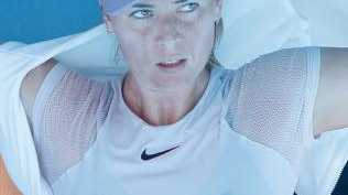 Maria Sharapova attempts to cool down between games. Picture: Getty Images