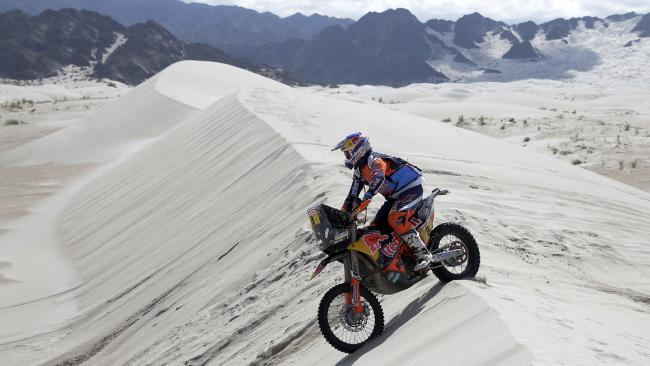 Toby Price of Australia during a victorious Stage 11 of the 2018 Dakar Rally.