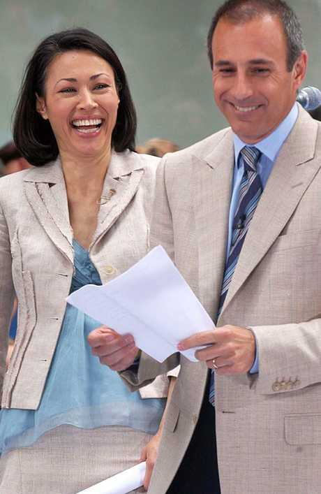 Matt Lauer and Ann Curry in happier times in 2006. Picture: Splash News