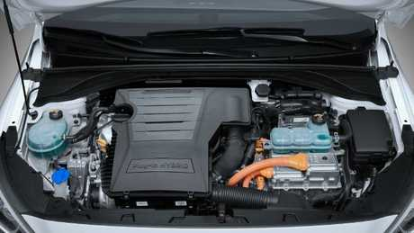 Quiet rather than quick: Outputs are modest from engine and electric motor alike.