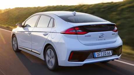 Keep plugging: The Ioniq is good for about 60km on electric power alone.