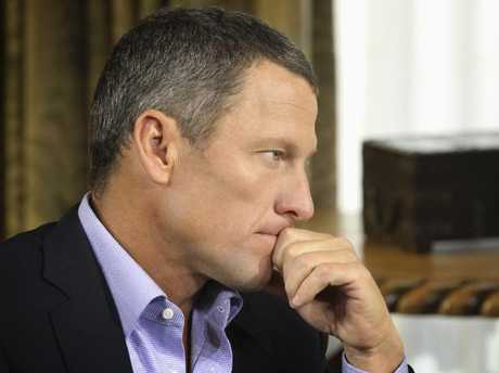 Lance Armstrong during the Oprah interview.