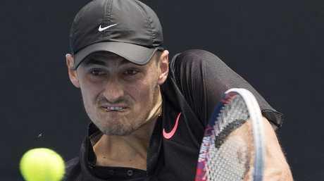 Bernard Tomic vs. Lorenzo Sonego during Australian Open qualifying Pic: Michael Klein