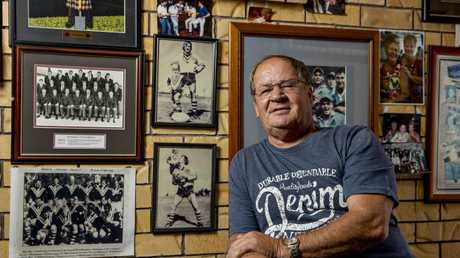 NRL legend Tommy Raudonikis at his Paradise Point home. Photo: Jerad Williams