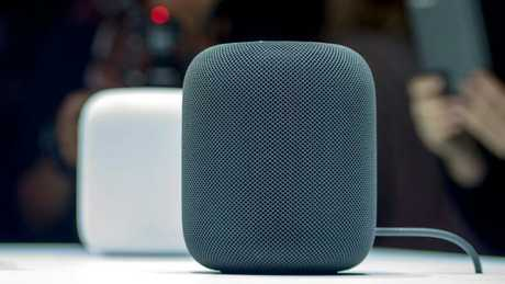 Amazon's Echo speakers will go head-to-head with Google Home and Apple HomePod smart speakers, pictured, when they launch later this year. Picture: AFP PHOTO / Josh Edelson