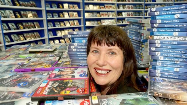 Australia's oldest video shop closing its doors after 35yrs.Here's long time staff member Michelle Mayne. Picture Mike Batterham