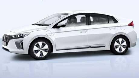 Ioniq: Fuel flap at rear, charging port at front.