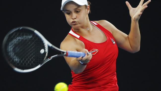 Barty recovered from a set down to advance to the third round. Picture: Michael Klein