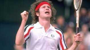 John McEnroe at Wimbledon in 1980. (Pic: Steve Powell)